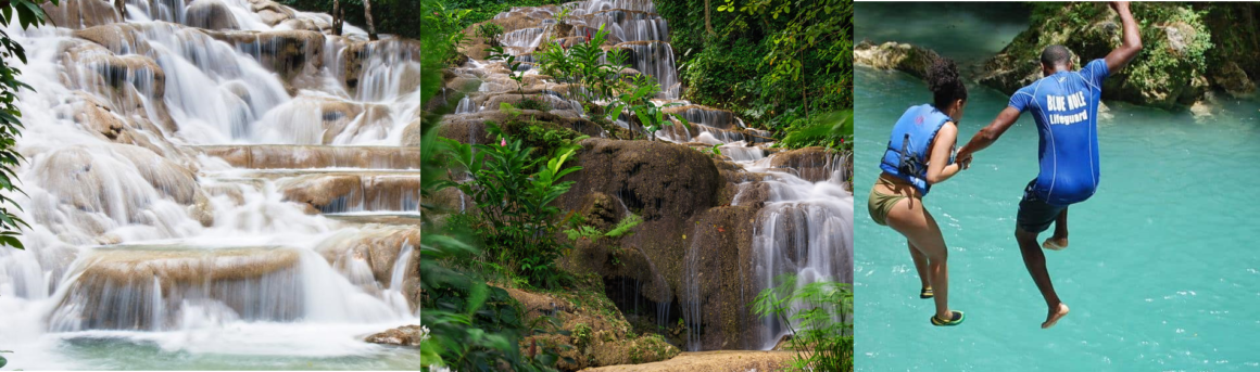 DUNN'S RIVER FALLS, KONOKO FALLS & BLUE HOLE WATERFALLS TOUR (BEST OF OCHO RIOS FALLS)